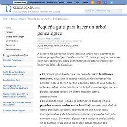 Xenealoxía.org - Genealogía de Galicia - Pequeña guía para hacer un árbol genealógico