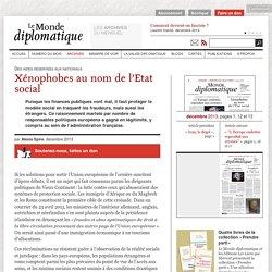 Xénophobes au nom de l'Etat social, par Alexis Spire (Le Monde diplomatique, décembre 2013)