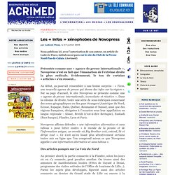 Les « infos » xénophobes de Novopress