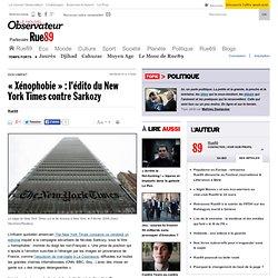 """""""Xénophobie"""" : l'édito du New York Times contre Sarkozy"""