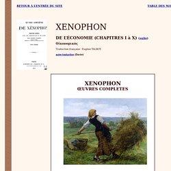 Xénophon : Economique (bilingue) traduction Talbot