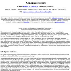Xenopsychology