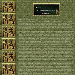 XEPER: The Eternal Word of Set