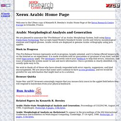 Xerox Arabic Home Page