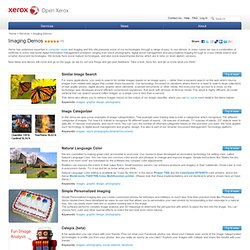 Open Xerox: imaging-demos Service Home Page