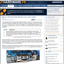 USB 3.0 : xHCI, BOT, UASP, Windows 7 et 8... pas si simple ! - HardWare.fr