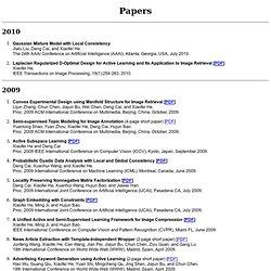Xiaofei He's Publications