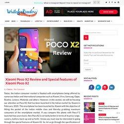 Xiaomi Poco X2 Review and Special features of Xiaomi Poco X2