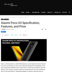 Xiaomi Poco X3 Specification, Features, and Price!!