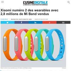 Xiaomi numéro 2 des wearables avec 2,8 millions de Mi Band vendus