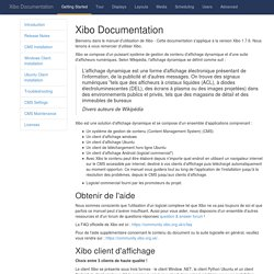 Xibo Documentation