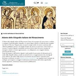 Atlante delle Xilografie italiane del Rinascimento - Istituto di Storia dell'Arte - Archivio digitale della Fondazione Giorgio Cini Onlus