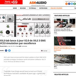 XILS-lab lance à jour V2.0 de XILS 3 EMS VCS3 émulation par Excelle