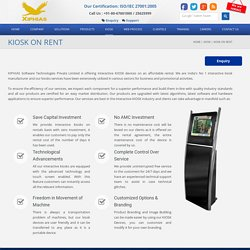XIPHIAS SOFTWARE TECHNOLOGIES - KIOSK Rental