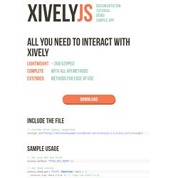 XivelyJS - Xively Javascript Library - Pete Correia