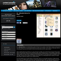 XL - eXtended Library for Poser 8 / Pro 2010