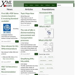 XML From the Inside Out -- XML development, XML resources, XML specifications