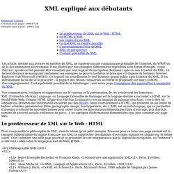 XML expliqué aux débutants