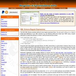 XML Schema Regular Expressions