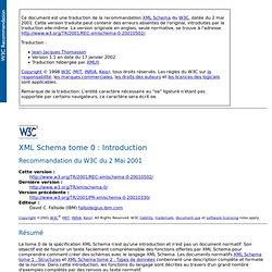 XML Schema tome 0: Introduction