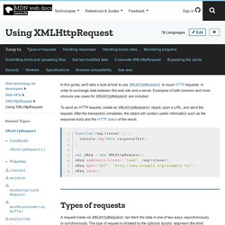 Using XMLHttpRequest