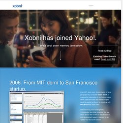 Xobni | Automatic rich profiles + email history + lightning fast search.