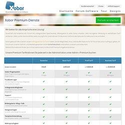 Xobor Premium-Dienste