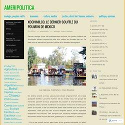 Xochimilco, le dernier souffle du poumon de Mexico