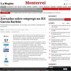 Xornadas sobre emprego no IES García Barbón - Monterrei