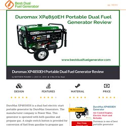Duromax XP4850EH Portable Generator Review