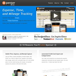 Xpenser – Mobile Expense, Time, and Mileage Tracking