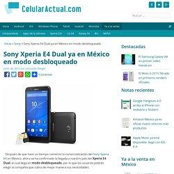 Sony Xperia E4 Dual ya en México en modo desbloqueado - Celular Actual México