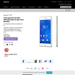 Smartphone premium Xperia™ Z3