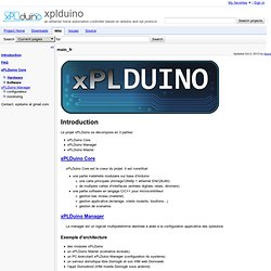 main_fr - xplduino - an ethernet home automation controller based on arduino and xpl protocol