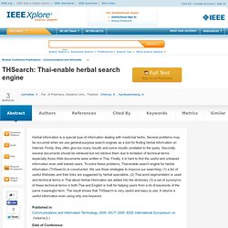 THSearch: Thai-enable herbal search engine