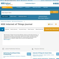 IEEE Xplore: IEEE Internet of Things Journal