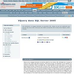XQuery dans SQL Server 2005