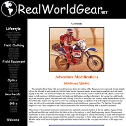 DR650 and XR650L Adventure Modifications