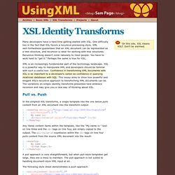 XSL Identity Transforms
