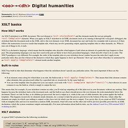 XSLT basics
