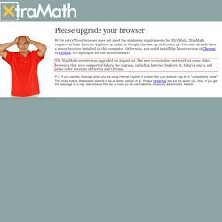 XtraMath - Mémoriser les tables d'opération