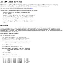 XTVD-Tools Project