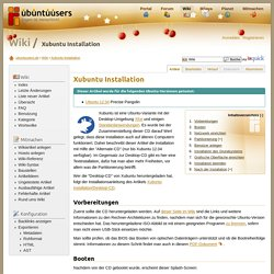 Xubuntu Installation