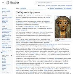 XXIe dynastie égyptienne