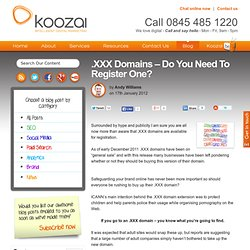 .XXX Domains - Do You Need To Register One?