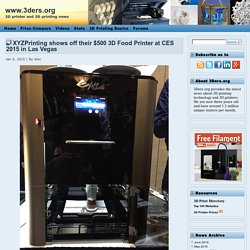 XYZPrinting shows off their $500 3D Food Printer at CES 2015 in Las Vegas