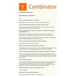 Y Combinator FAQ