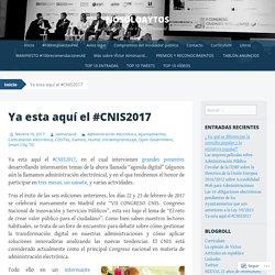 Ya esta aquí el #CNIS2017