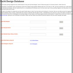 Yacht Designs Database