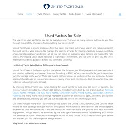 Yachts for sale database search page